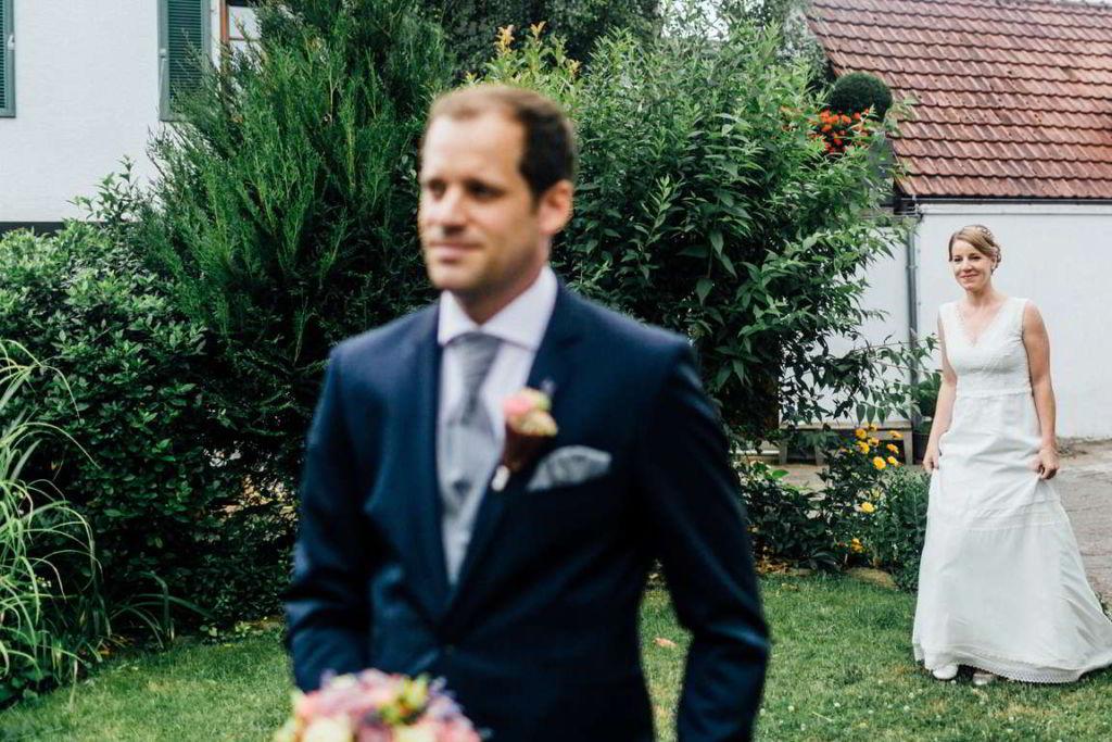 Hochzeitsfotografie Stuttgart Anne und Markus First Look
