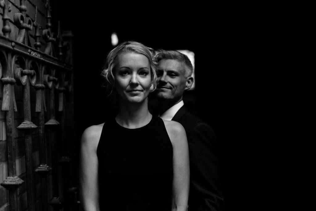 Hochzeitsfotograf Stuttgart Clarissa und Michael Paarshooting Schwarzweiss
