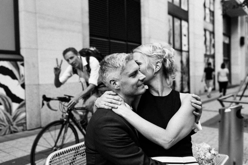 Hochzeitsfotograf Stuttgart Clarissa und Michael Paarshooting Stadt Stuttgart