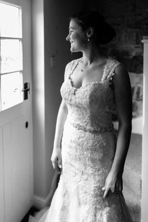 Hochzeitsfotograf Stuttgart Auslandshochzeit Braut blackwhite