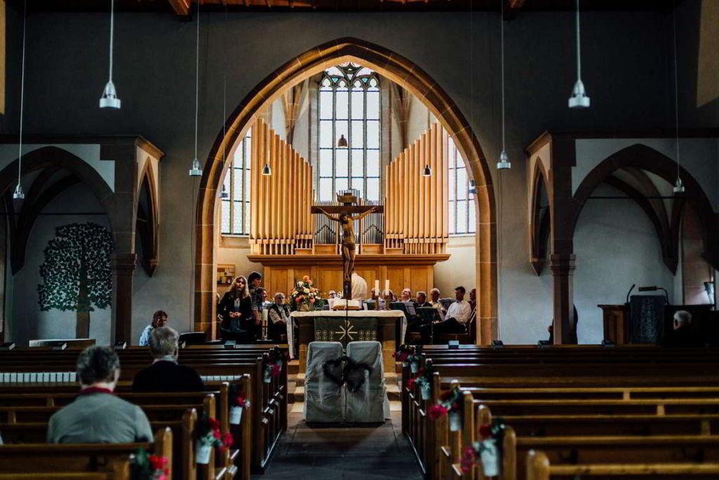 Hochzeitsfotograf Eberdingen Jana und Matthias Paarshoot Kirche