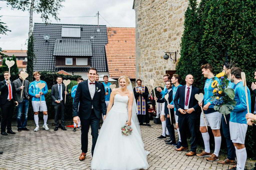 Hochzeitsfotograf Eberdingen Jana und Matthias Trauung Spalier