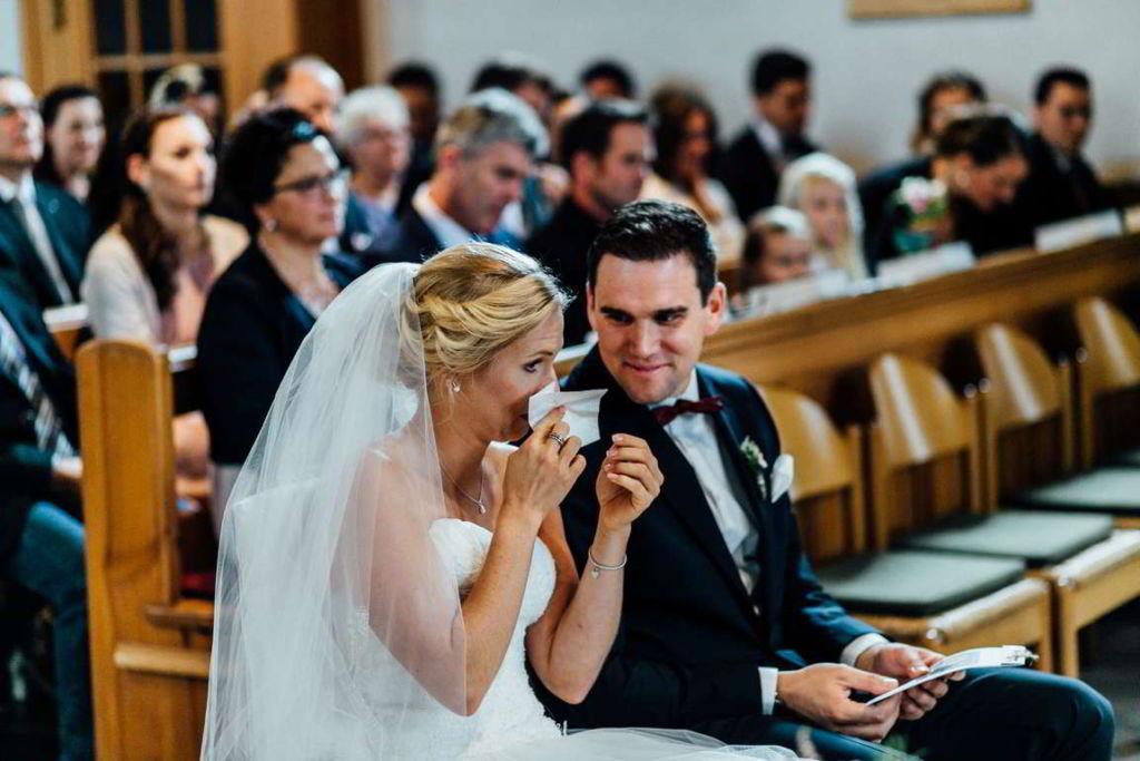 Hochzeitsfotograf Eberdingen Jana und Matthias Trauung Tränen