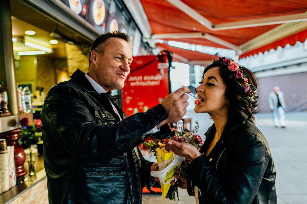 Urban Wedding Jasmin und Marco Imbiss