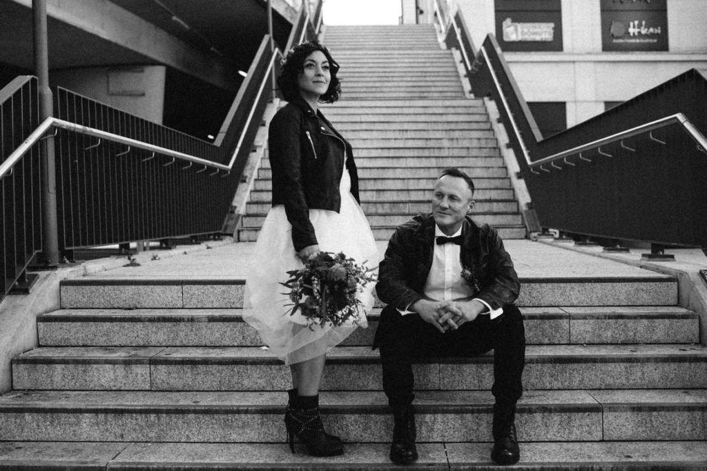 Urban Wedding Jasmin und Marco Paulinentreppe