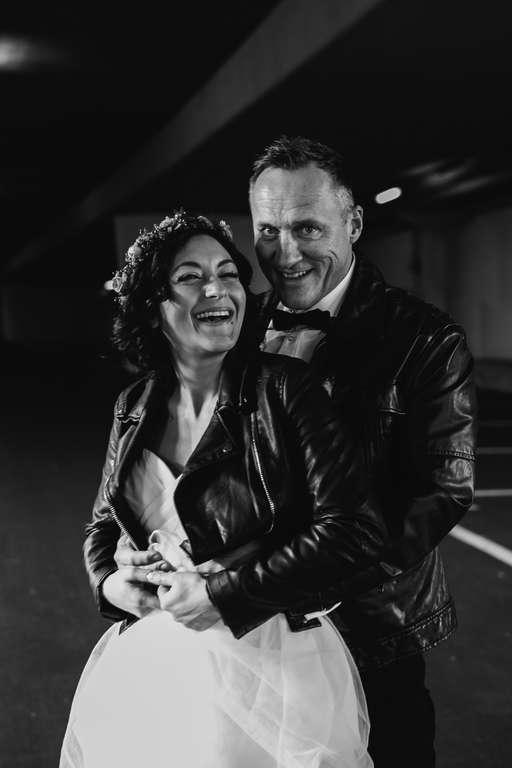 Urban Wedding Jasmin und Marco Tiefgarage bnw