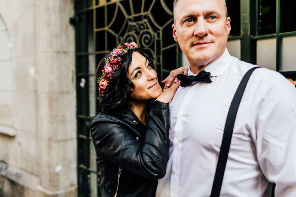Urban Wedding Jasmin und Marco verliebt