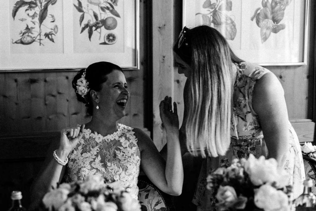 Hochzeitsfotos Melanie und Marc Feier Humor