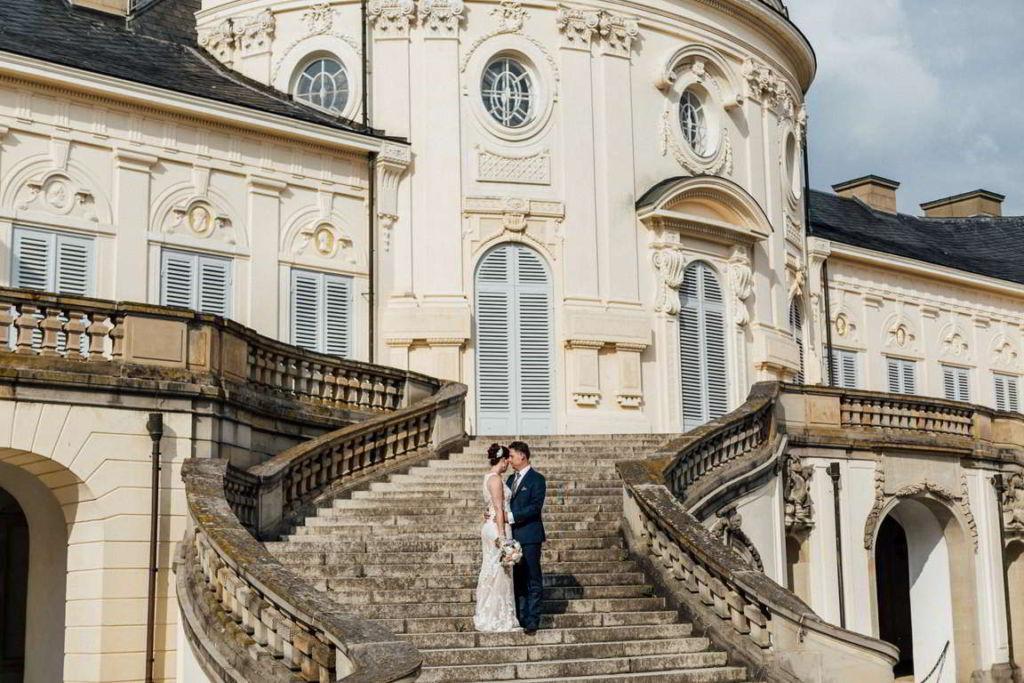 Hochzeitsfotos Melanie und Marc Paarshoot Schloss Solitude