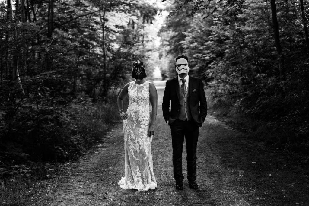 Hochzeitsfotos Melanie und Marc Paarshoot Star Wars