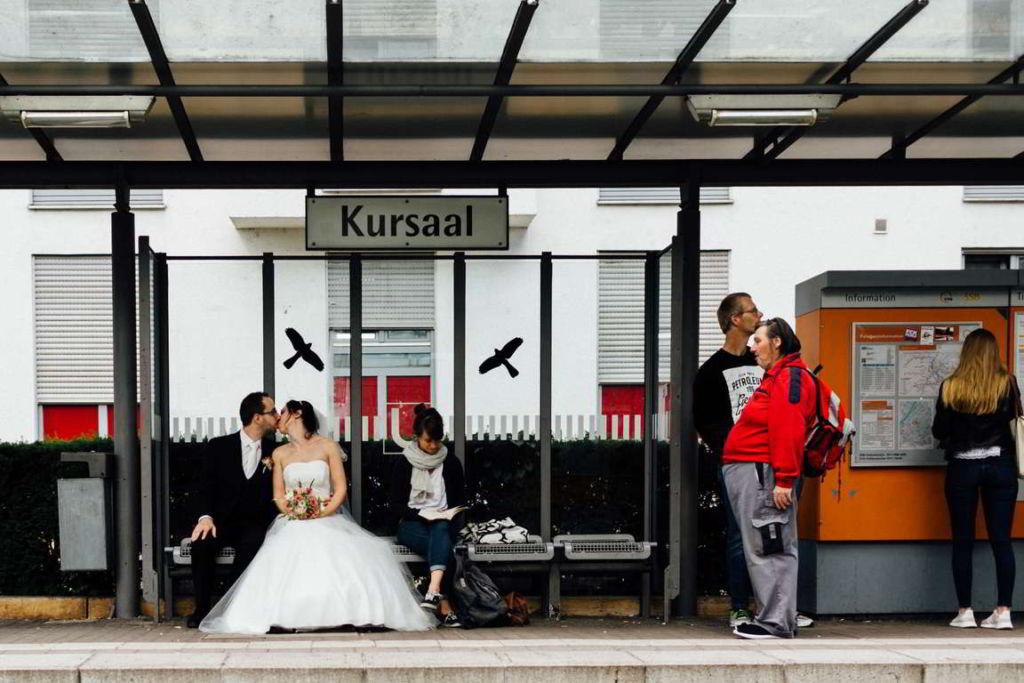 Hochzeitsfotograf Stuttgart Hochzeitsbilder Stuttgart Straßenbahn