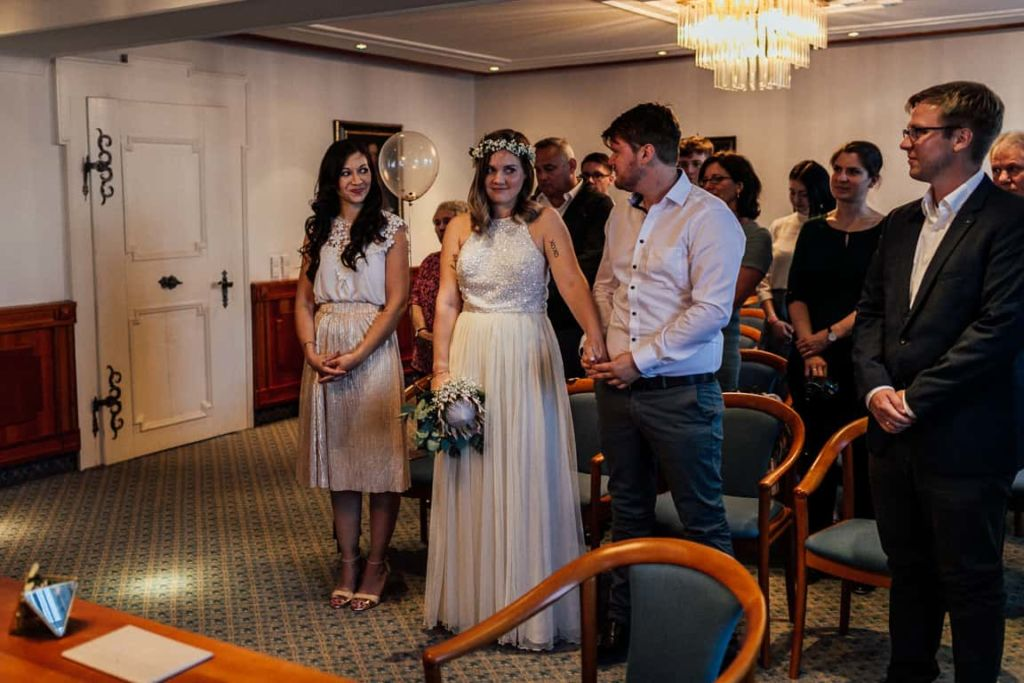 Hochzeitsfotograf Stuttgart Boho Hochzeit Standesamt Eheversprechen