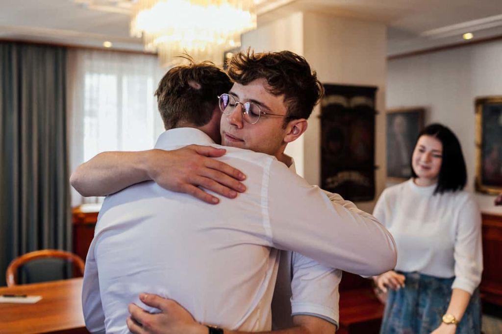 Hochzeitsfotograf Stuttgart Boho Hochzeit Standesamt Gratulation Bruder