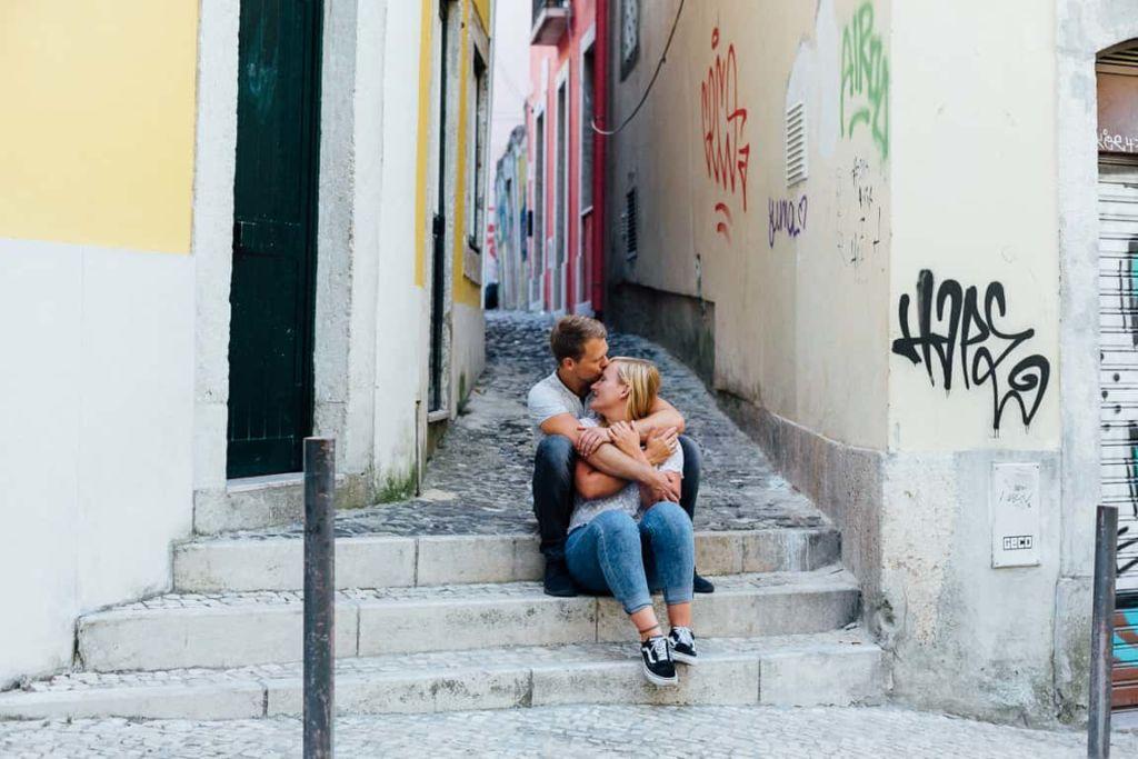Hochzeitsfotograf Stuttgart Pärchenbilder in Lissabon Verlobungsshooting