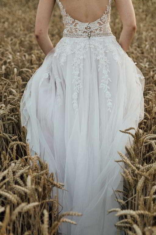 Hochzeitsfotograf Portfolio Madeleine und Sebastian Brautkleid