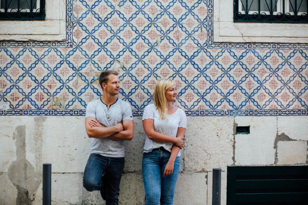 Hochzeitsfotograf Stuttgart Helena Andre Lissabon Liebe Fliesenmuster