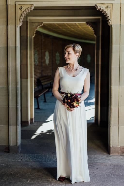 Trauung in der Wilhelma Stuttgart Brautkleid