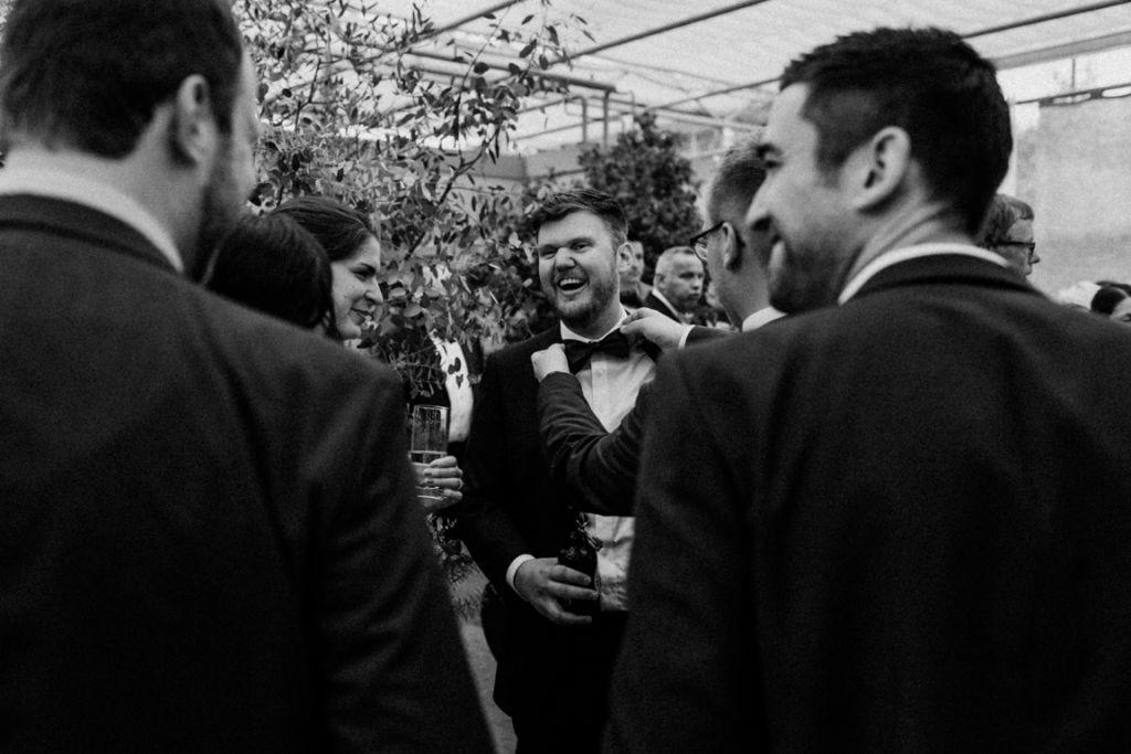 Hochzeitsfotos in Stuttgart Sektempfang