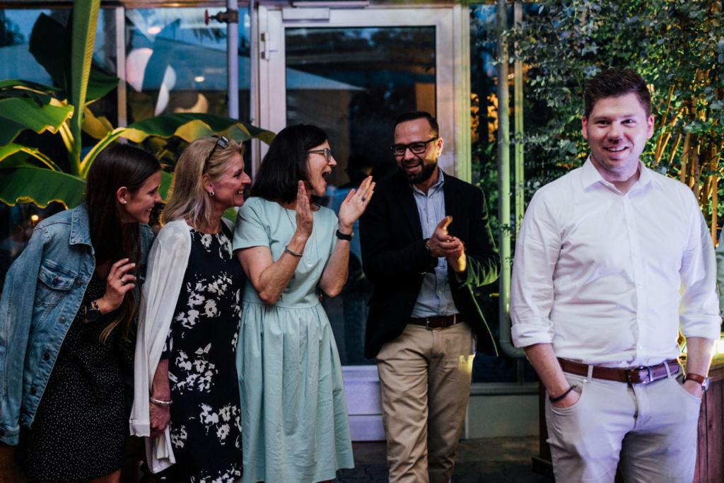 Hochzeitsfotos in Stuttgart Gäste Freude