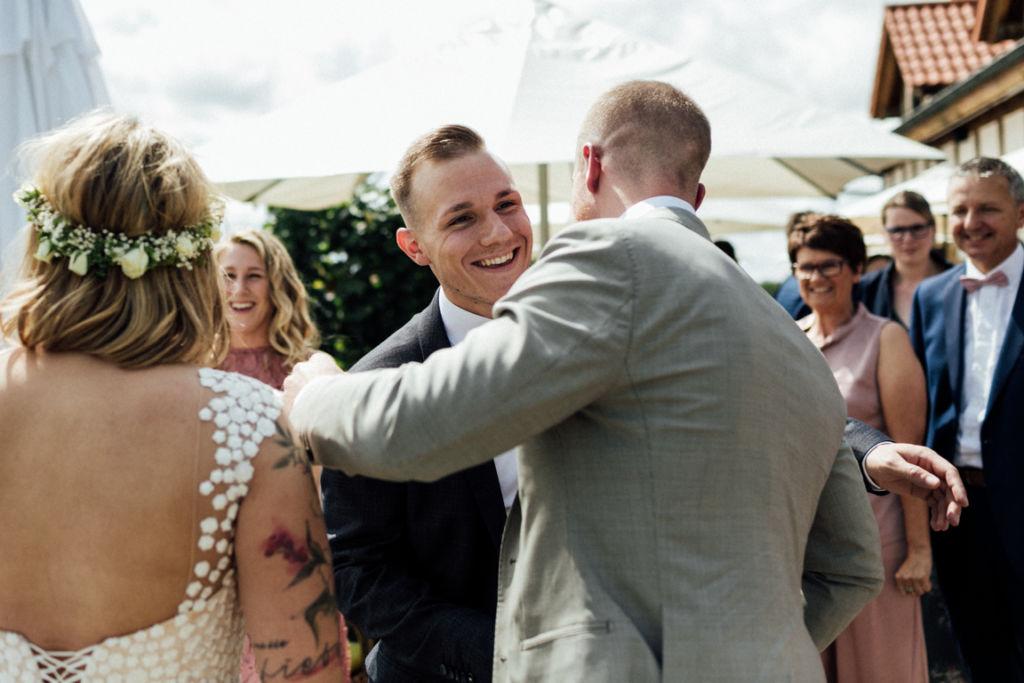 Hochzeitsfotograf für Sportler Gratulation Freund