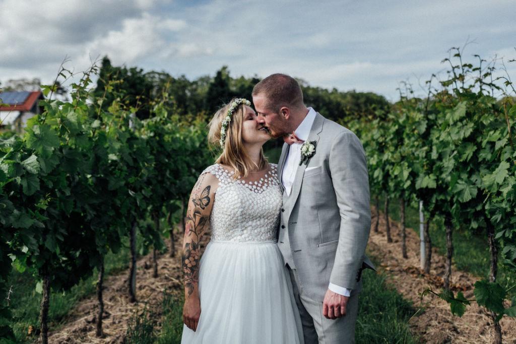 Hochzeitsfotograf für Sportler Paarhooting Weingut