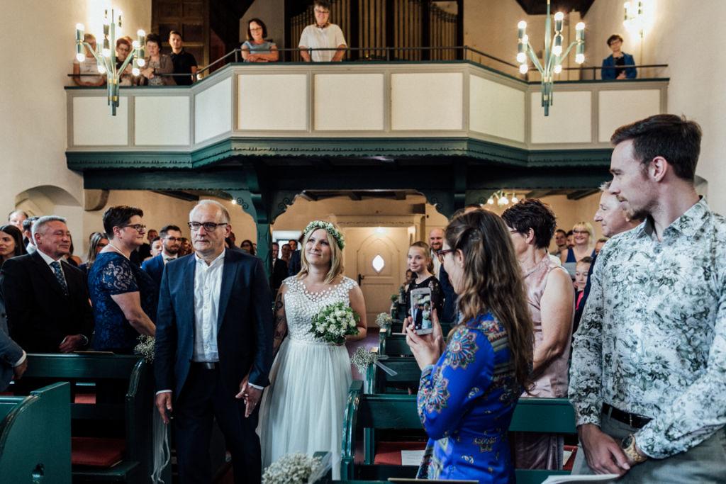 Hochzeitsfotograf für Sportler Einzug Braut